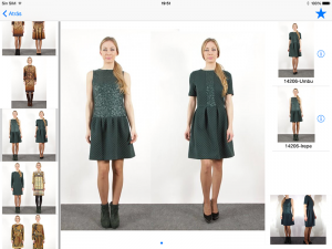 agentes comerciales moda textil catálogo virtual tablet
